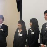 左から藤田さん(63回生)、足立さん(63回生) 駒田さん(63回生)、坪田さん(63回生)