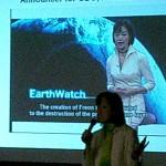 地球温暖化の深刻さを 英語で語る29回の小西雅子さん